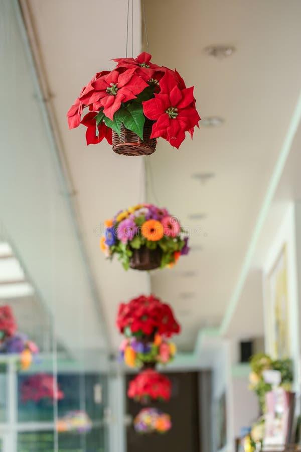 Flor artificial de la decoración colorida foto de archivo libre de regalías
