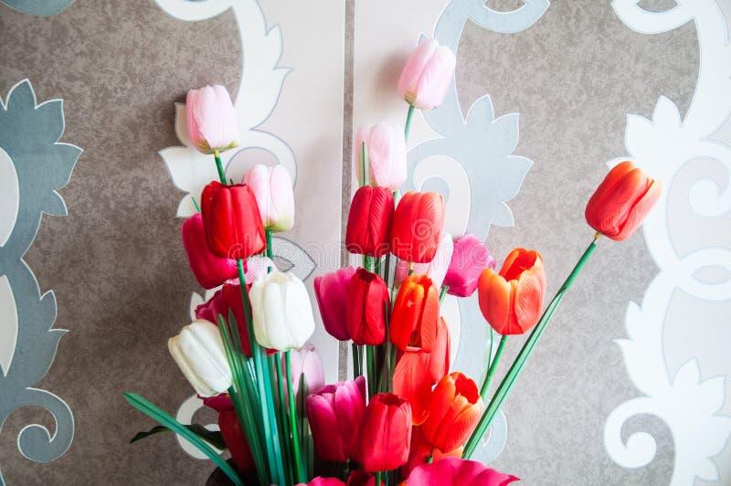 Flor artificial do tulip foto de stock
