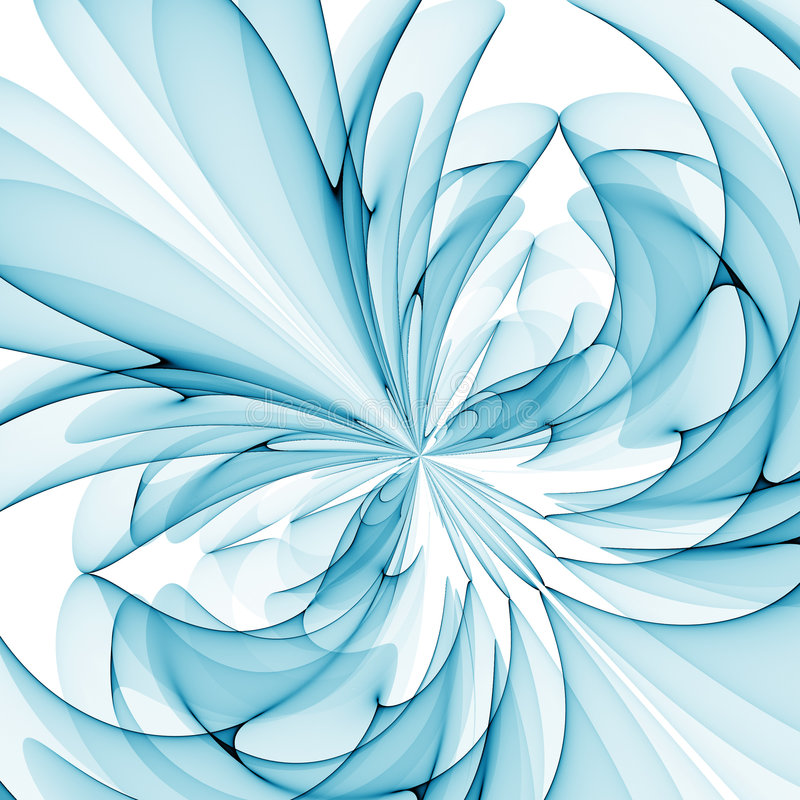 Flor azul ilustración del vector