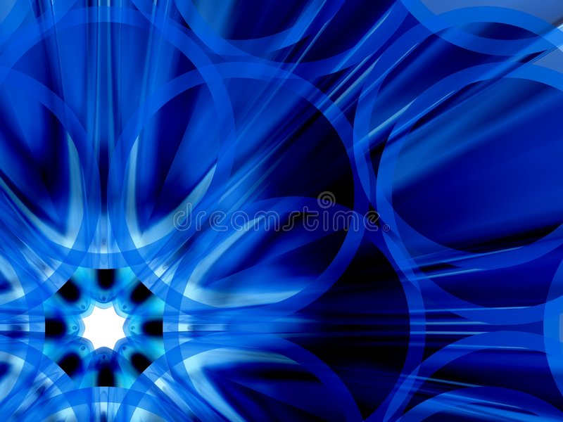 Flor azul stock de ilustración
