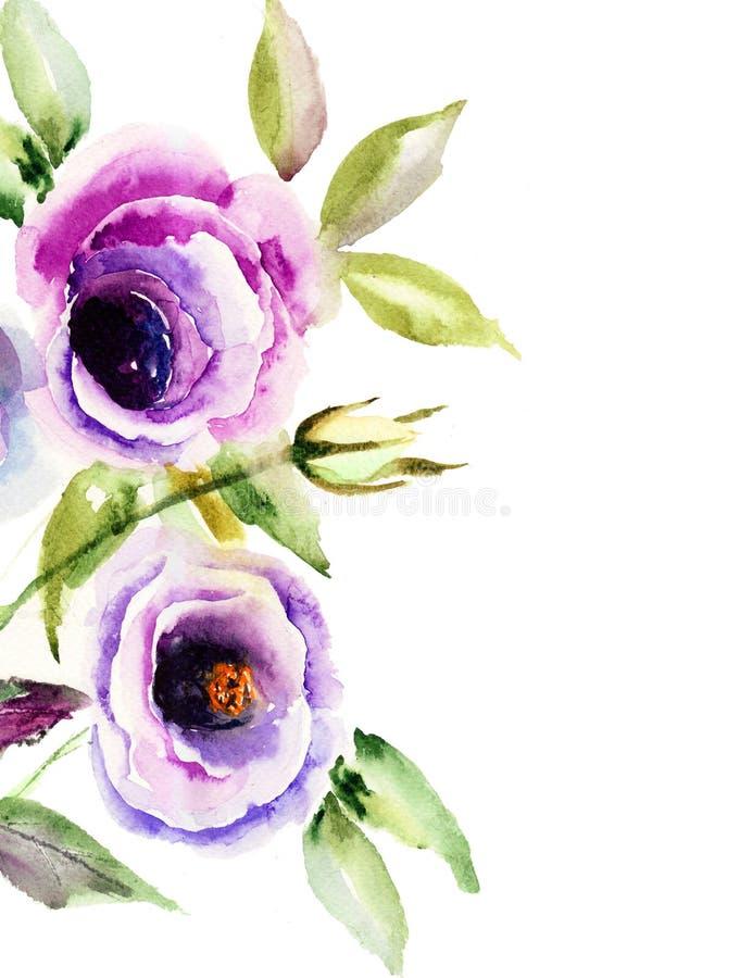 Flor azul bonita ilustração stock