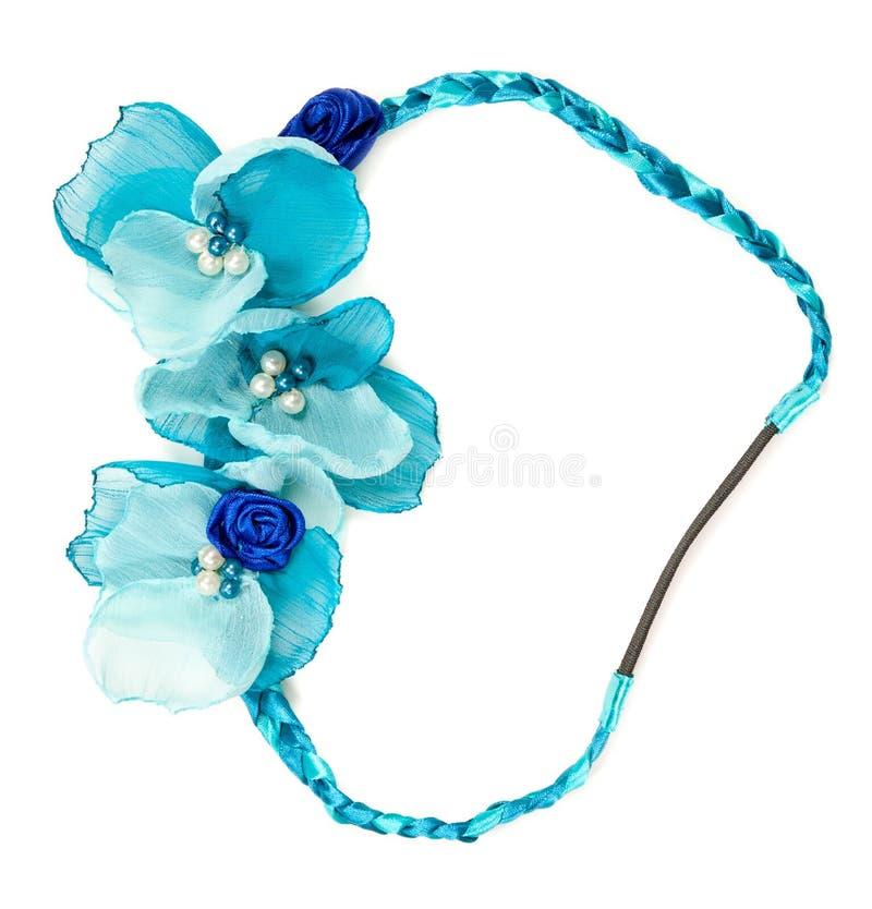 Flor azul de la tela foto de archivo libre de regalías