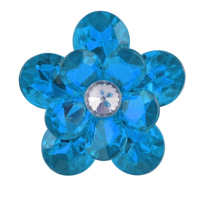Flor azul do diamante imagem de stock