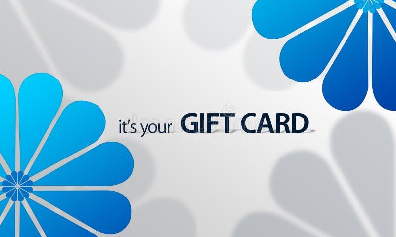 Flor azul Giftcard ilustração stock