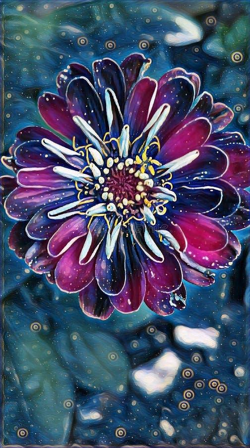 Flor bonita na jarda de minha casa no verão imagem de stock