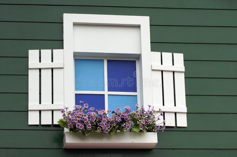 Download Janela e flores imagem de stock. Imagem de folhas, janelas - 29828869