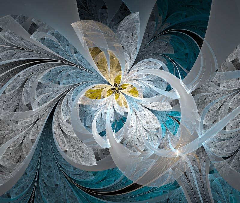 Flor branca da imagem abstrata ilustração stock