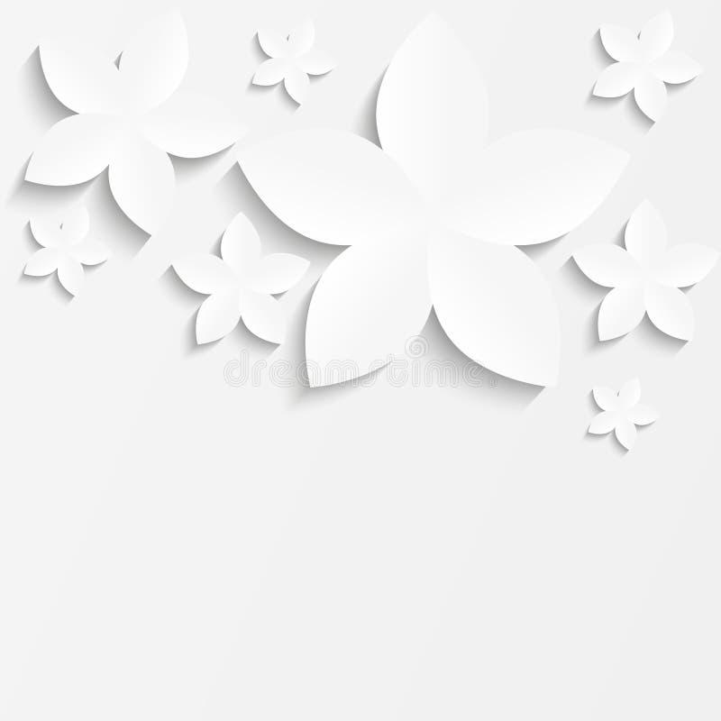 Flor branca do papel ilustração royalty free