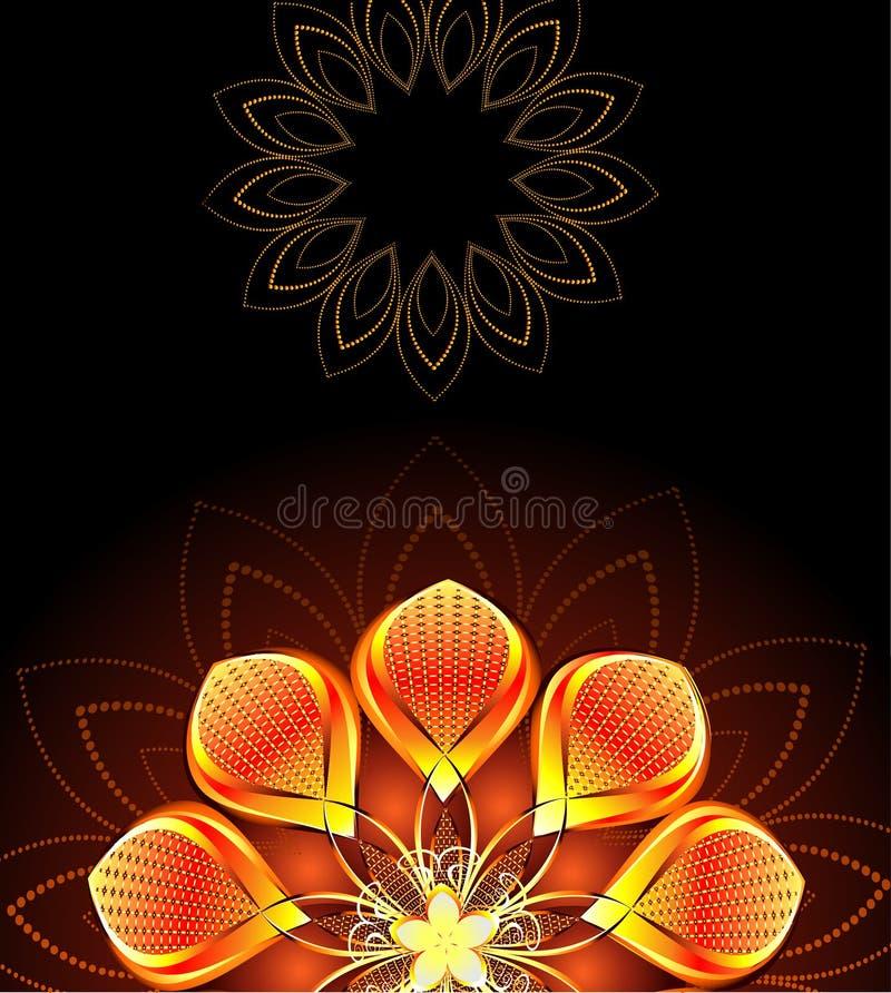 Flor brilhante abstrata ilustração royalty free