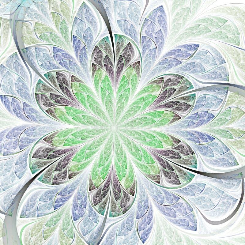 Flor clara do fractal ilustração royalty free