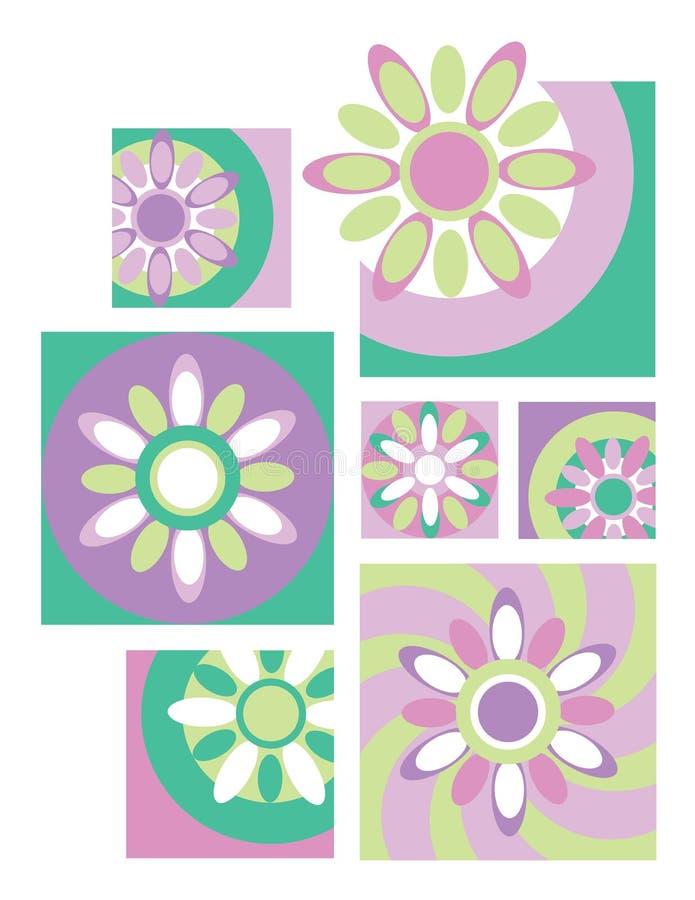Flor Collection_Retro ilustración del vector