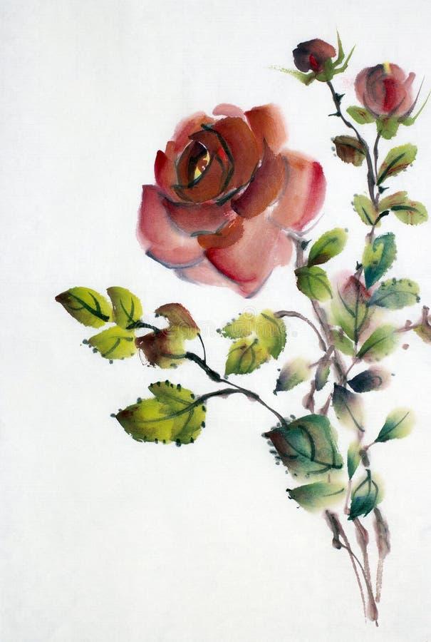 Flor color de rosa del rojo libre illustration