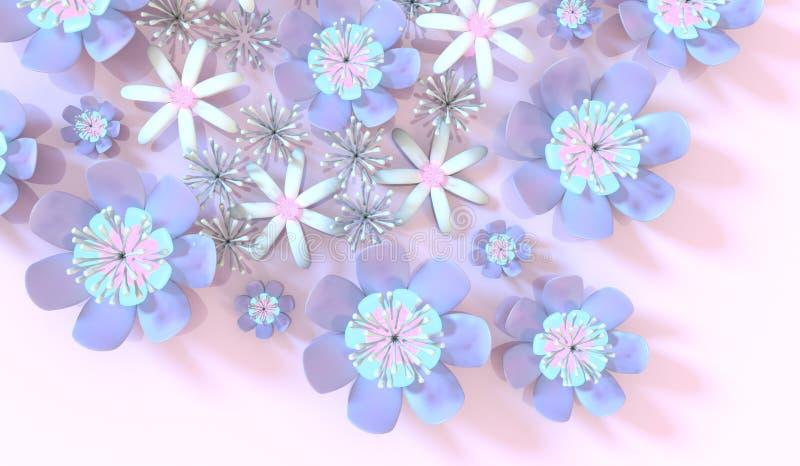 Flor colorida 3d libre illustration