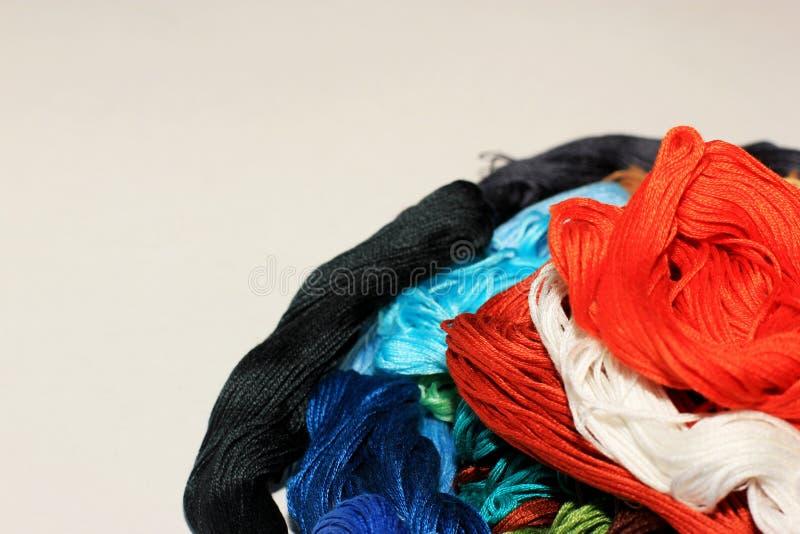 Flor colorida da linha feito a mão fotos de stock