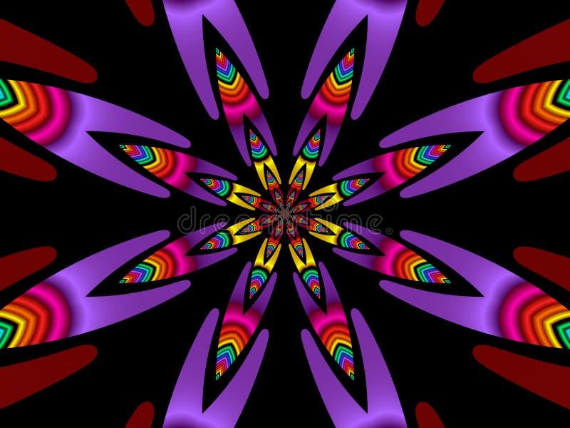 Flor colorida (fractal40b) ilustração do vetor