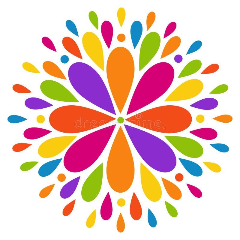 Flor colorida moderna abstracta ilustración del vector