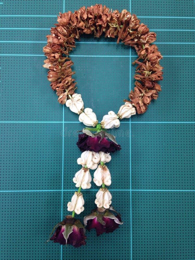 Flor colorida secada tailandesa de la guirnalda imágenes de archivo libres de regalías