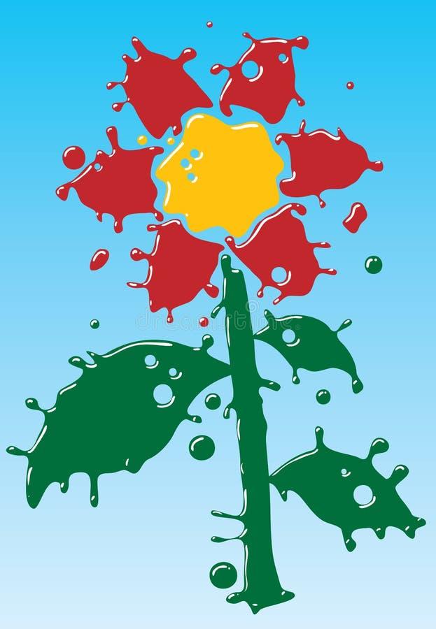 Download Flor Como O Formulário Das Gotas. Divertimento. Ilustração do Vetor - Ilustração de silhueta, azul: 10064761