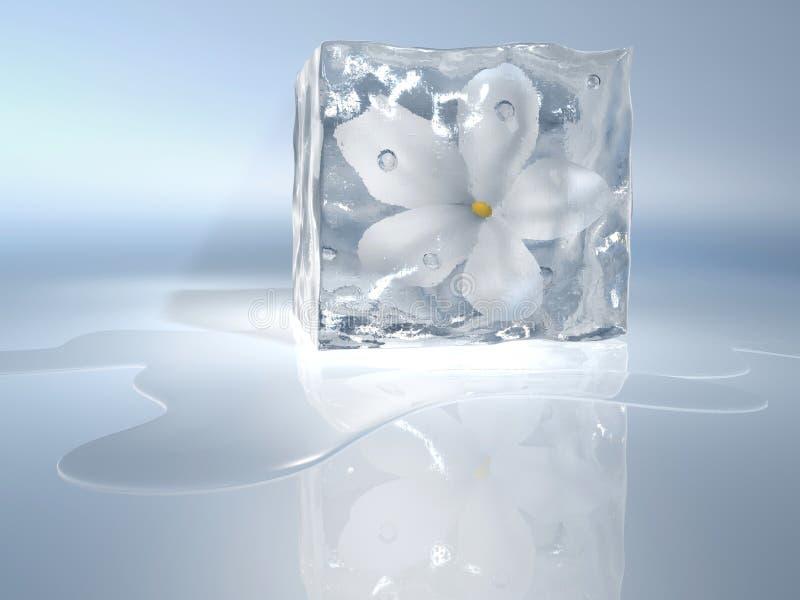 Flor congelada ilustração royalty free
