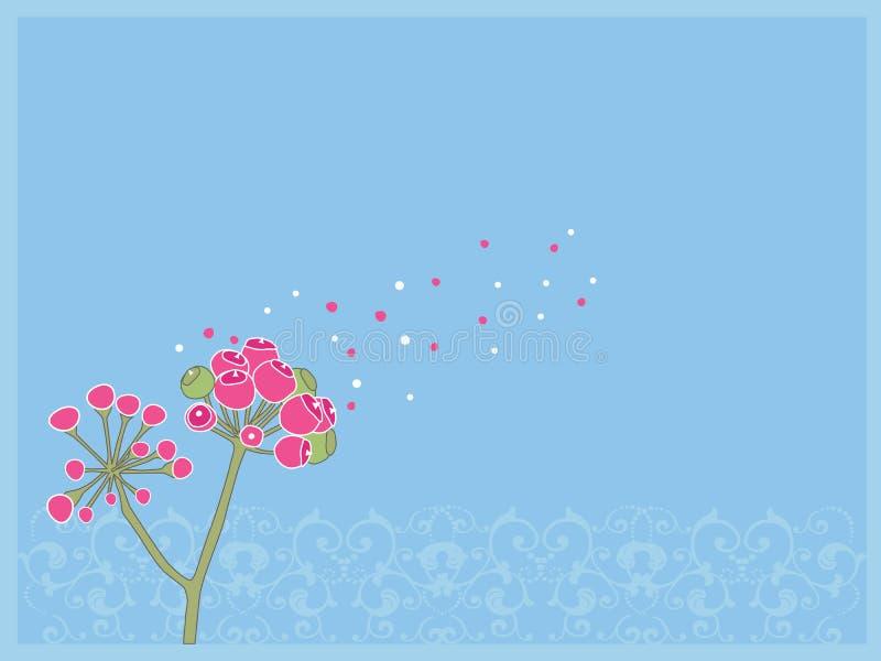 Flor cor-de-rosa ilustração do vetor
