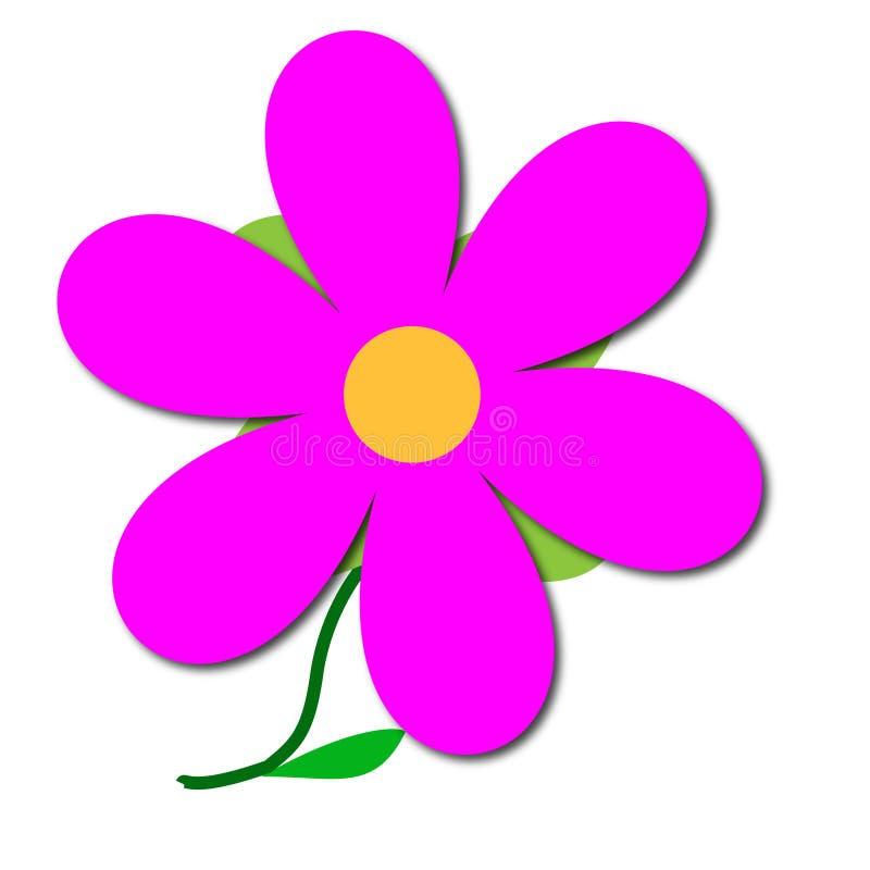 Flor cor-de-rosa ilustração royalty free