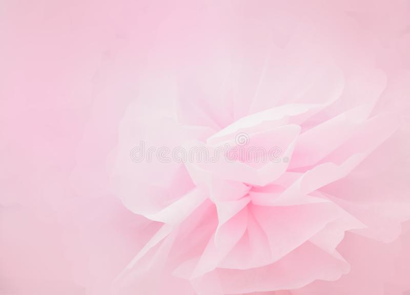 Flor cor-de-rosa da pétala no estilo macio imagem de stock royalty free