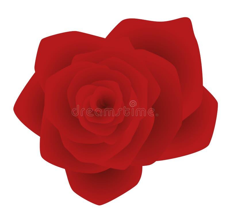 Flor cor-de-rosa do vermelho ilustração stock