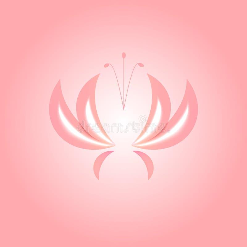 Flor cor-de-rosa em um fundo cor-de-rosa ilustração royalty free