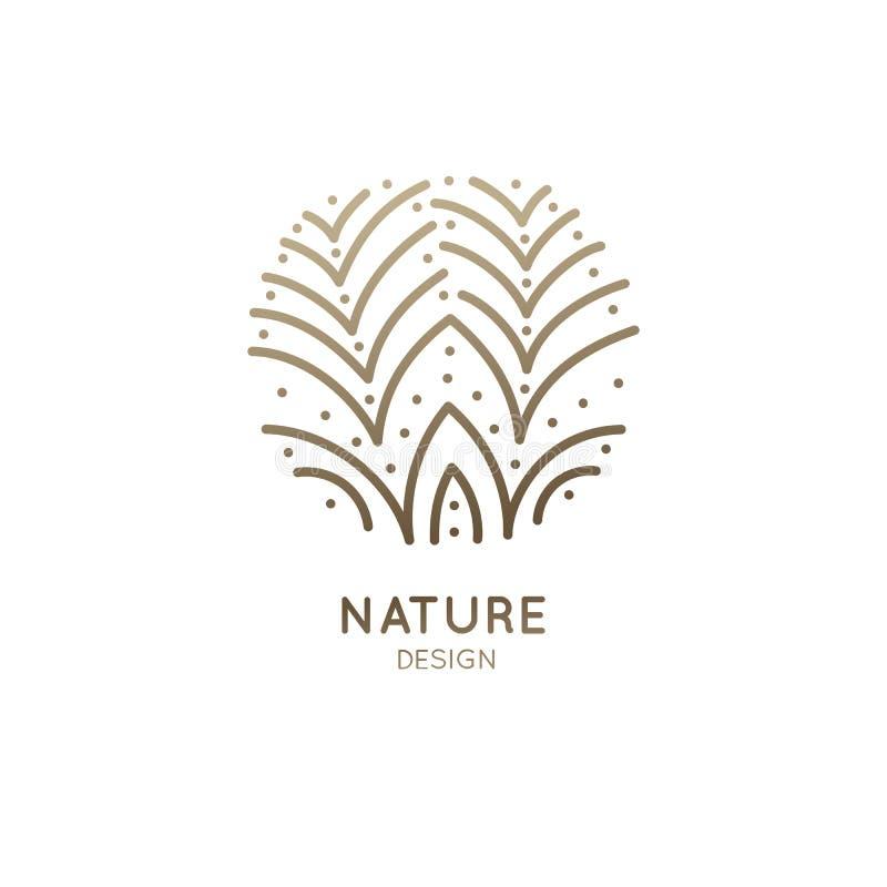 Flor da flor do logotipo ilustração royalty free