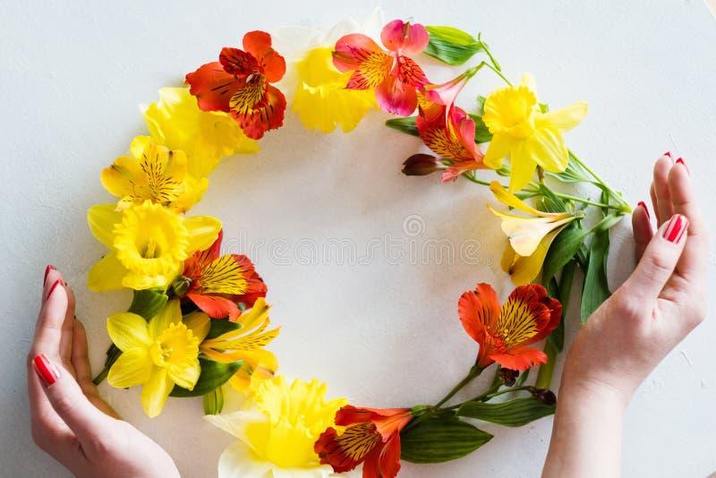 Flor da grinalda da flor da proteção da flora da natureza fotos de stock