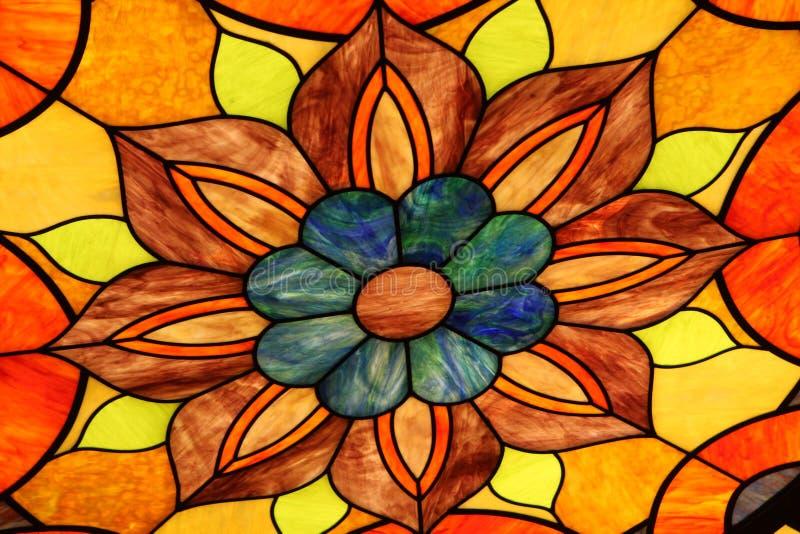 Flor da laranja do vidro manchado foto de stock