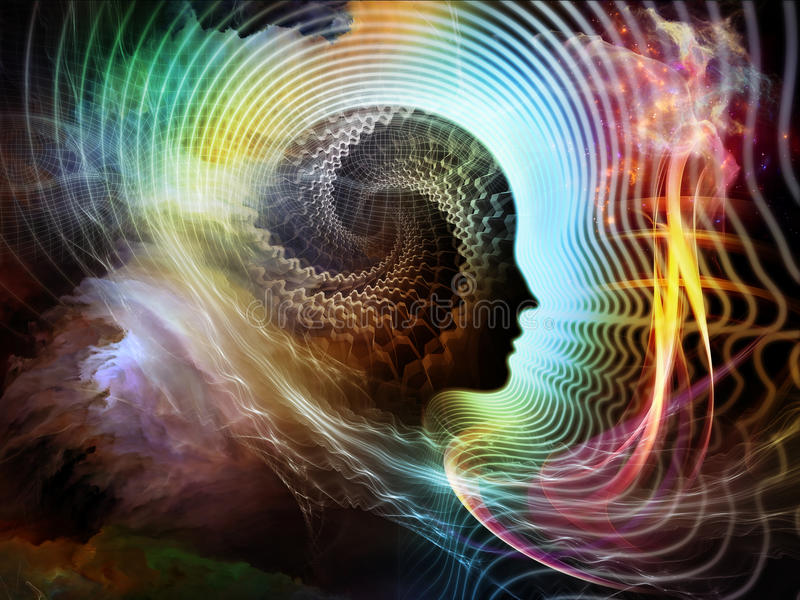 A flor da mente humana ilustração do vetor