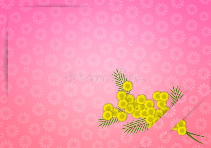 Flor da mimosa para o dia das mulheres ilustração stock