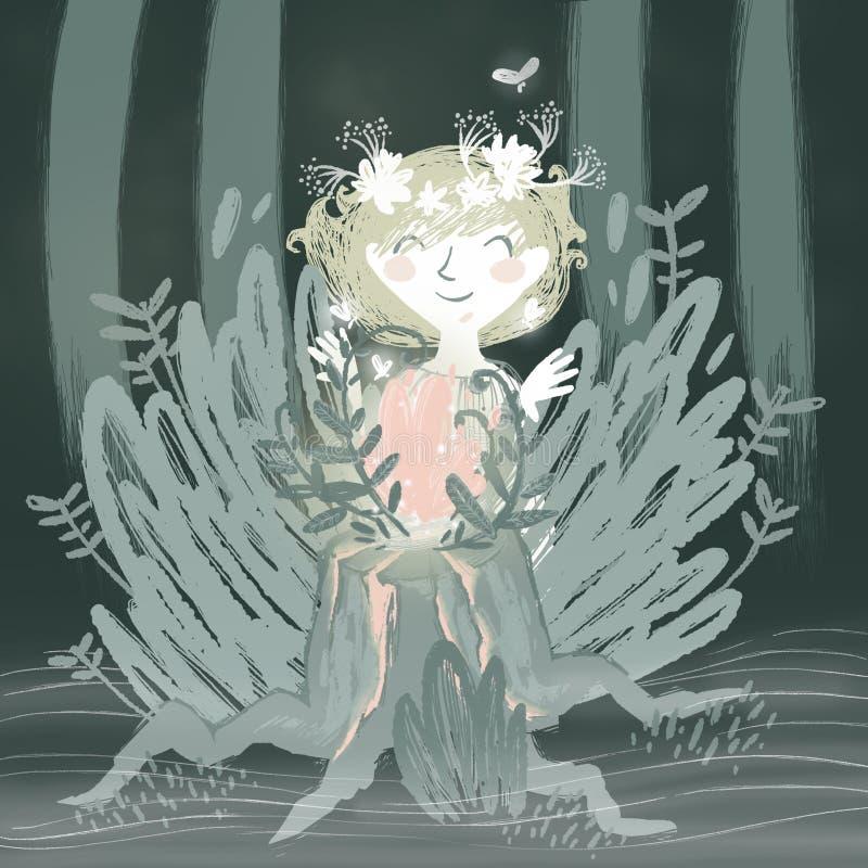 Flor da samambaia ilustração do vetor