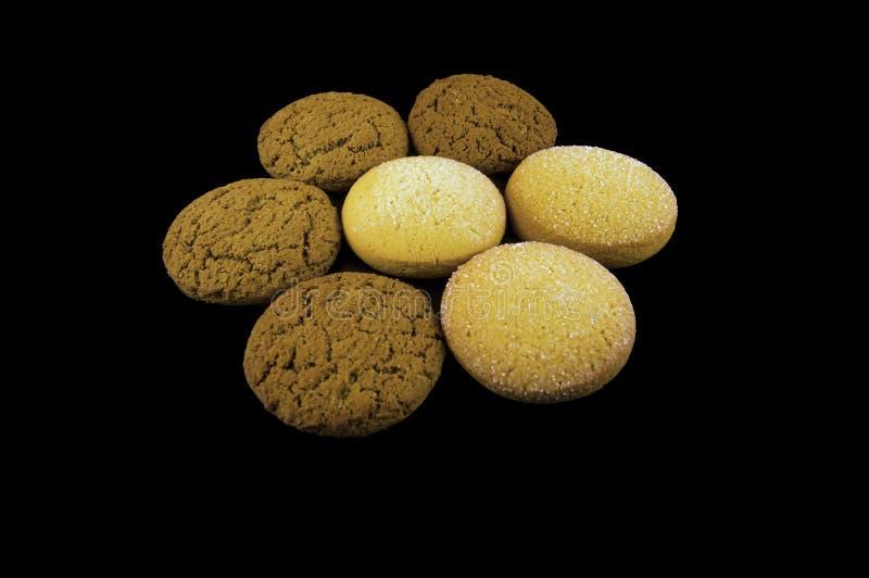 Flor de biscoitos da farinha de aveia e do milho imagem de stock