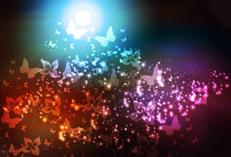 Flor de borboleta abstrata ilustração royalty free