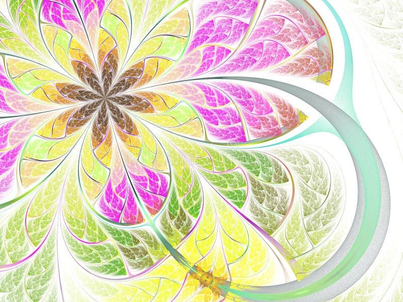 Flor de borboleta do Fractal ilustração do vetor