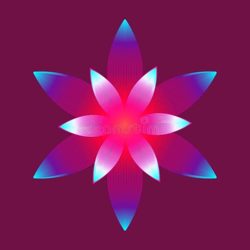 Flor de brilho de incandescência da flor imagem de stock