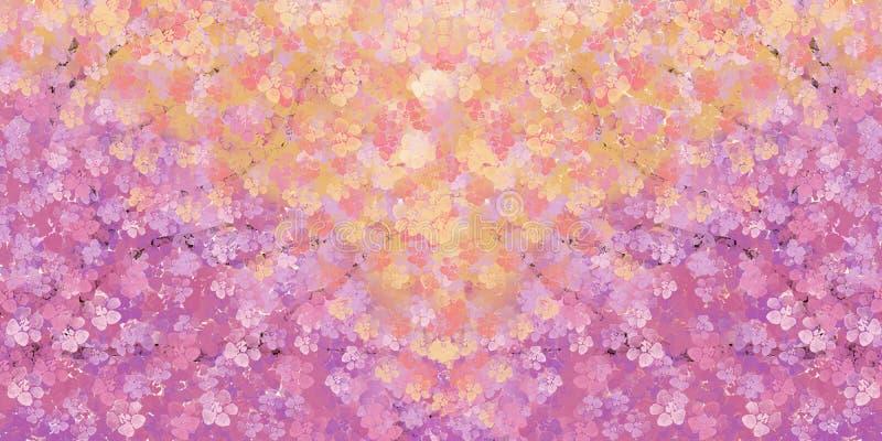 Flor de cerezo en un fondo en colores pastel textura de la acuarela imagen de archivo