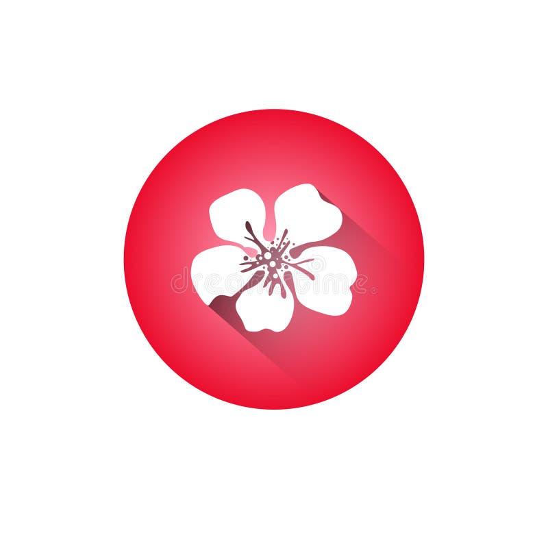 Flor de Cherry Blossom Icon Japanese Sakura isolada ilustração royalty free
