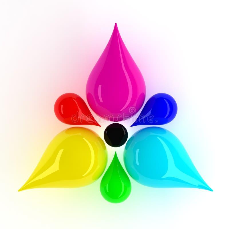 Flor de CMYK e de RGB ilustração royalty free