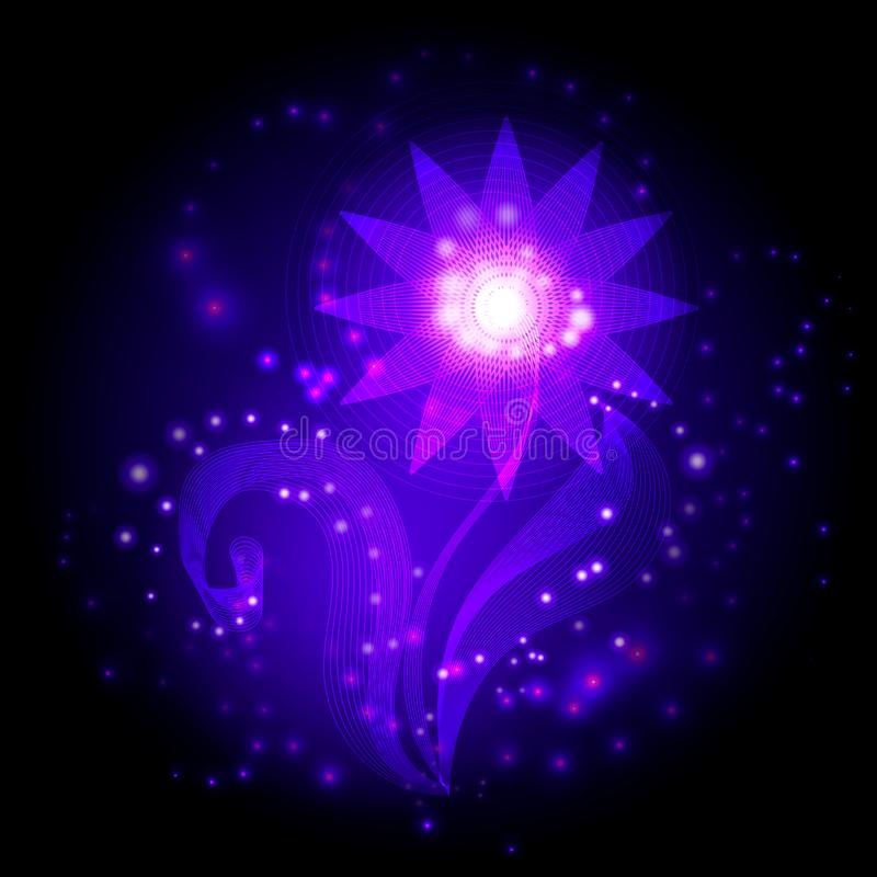 Flor de cristal ilustração do vetor