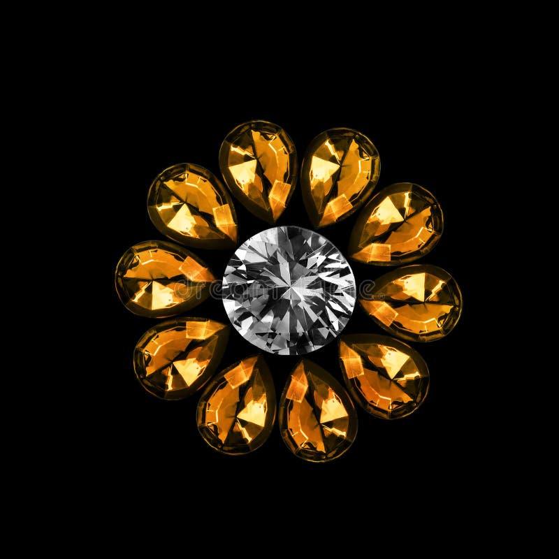 Flor de cristal isolada fotos de stock royalty free