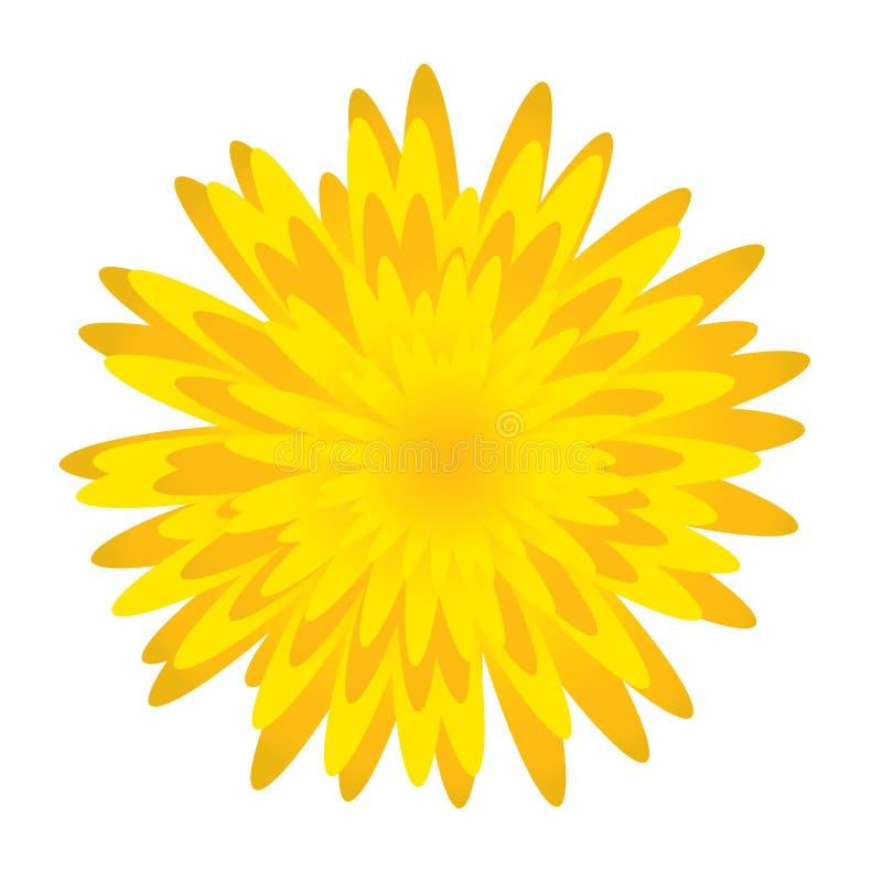 Flor de Dandelion.Spring stock de ilustración