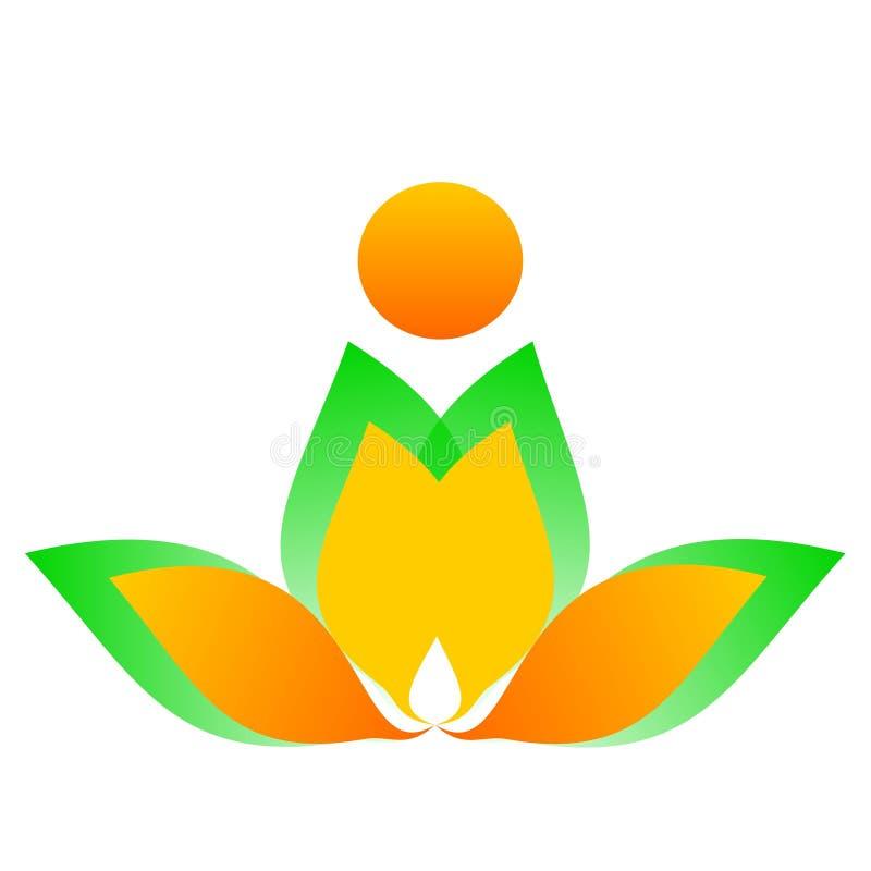 Flor de dibujo del logotipo del vector ilustración del vector