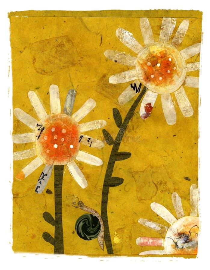 Flor de escalada do caracol ilustração stock