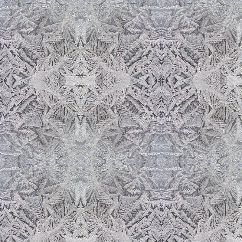 Flor de Frost en la ventana fotos de archivo