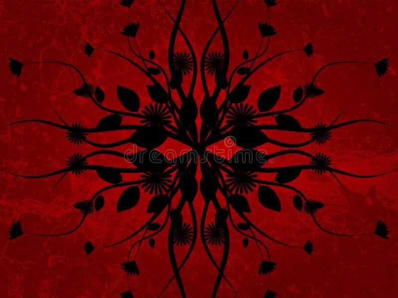 Flor de Grunge ilustração stock