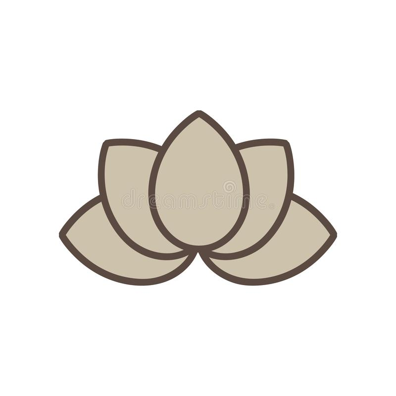 Flor de lótus meditativo da Buda fotografia de stock
