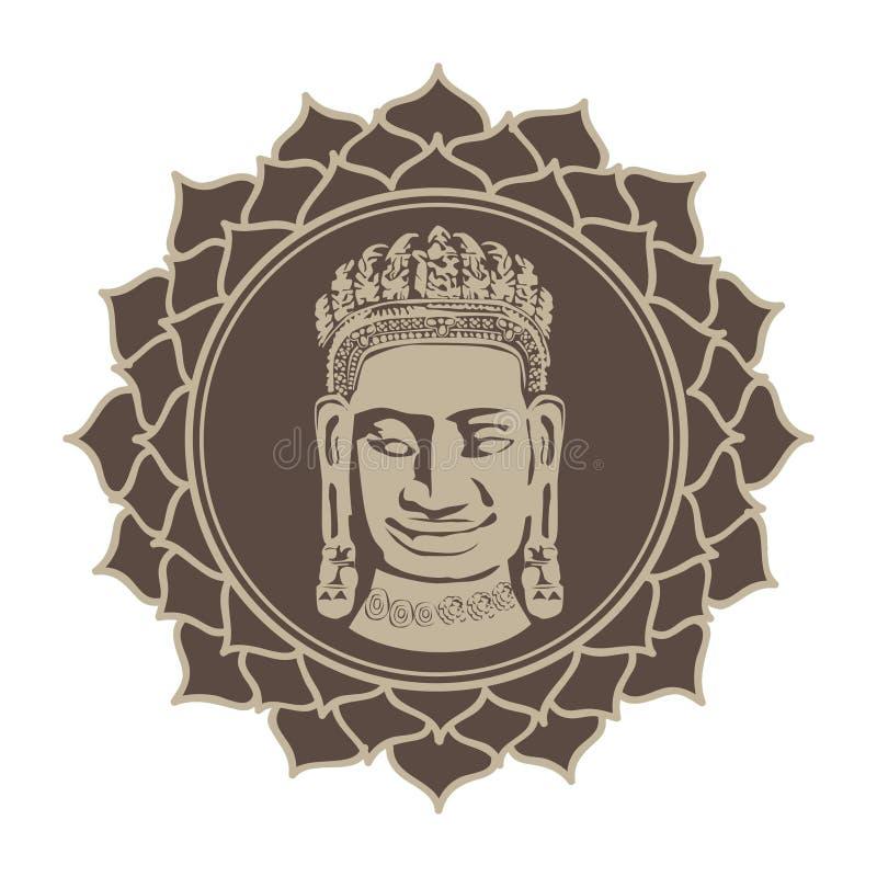 Flor de lótus meditativo da Buda fotografia de stock royalty free